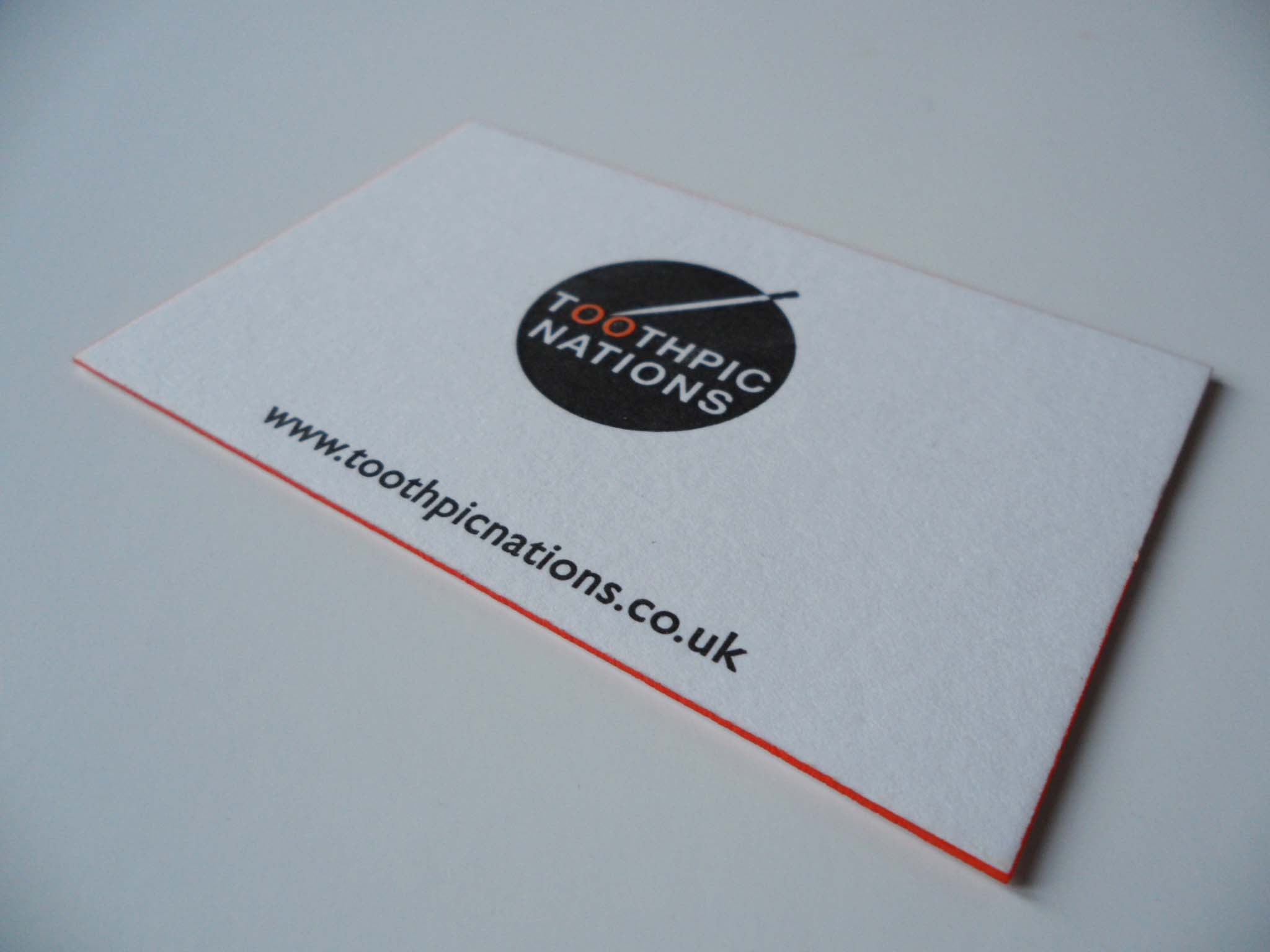 Letterpress business cards / toothpicnations