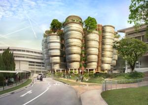 Learning Hub at Nanyang Technology University - Thomas Heatherwick - Comptition winning proposal for £360 university redevelopment scheme