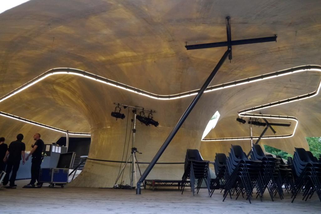 Serpentine pavilion by Smiljan Radić