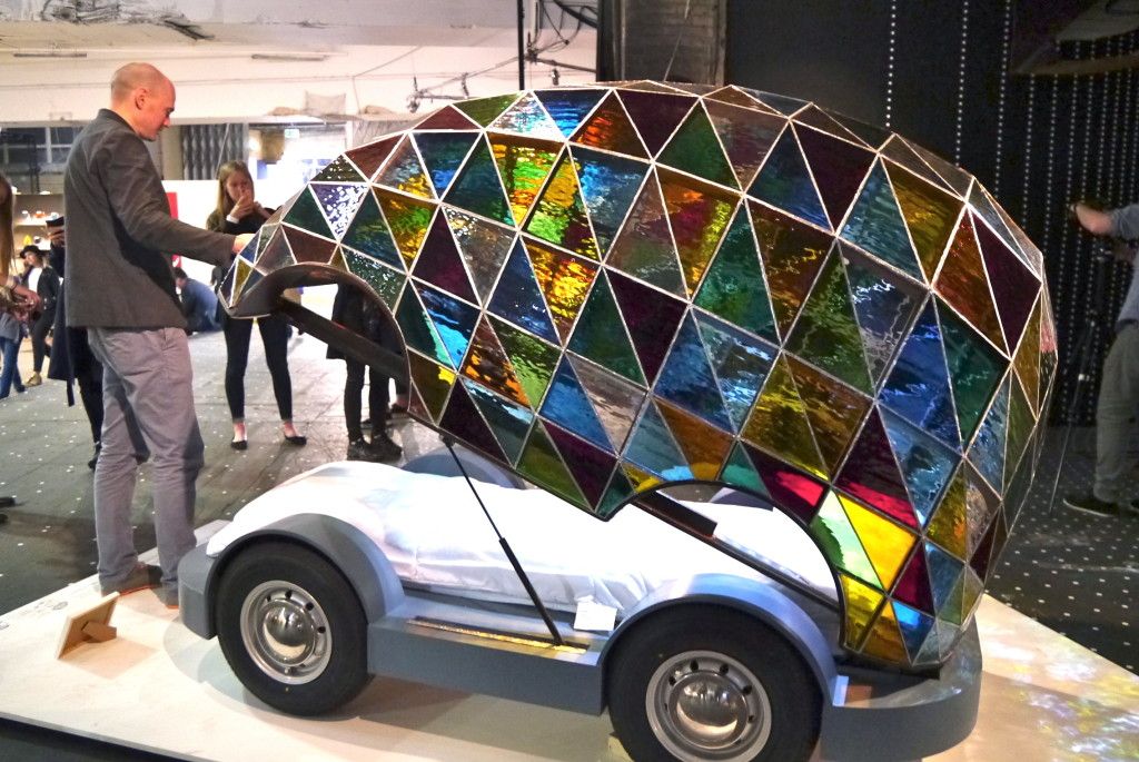 Dominic Wilcox's stained glass driverless car