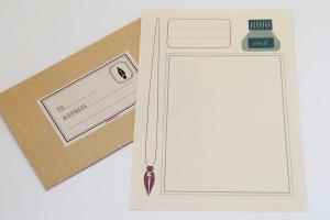 kuroyagiza pen & ink letter