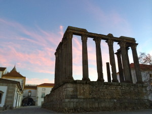 evora sunset