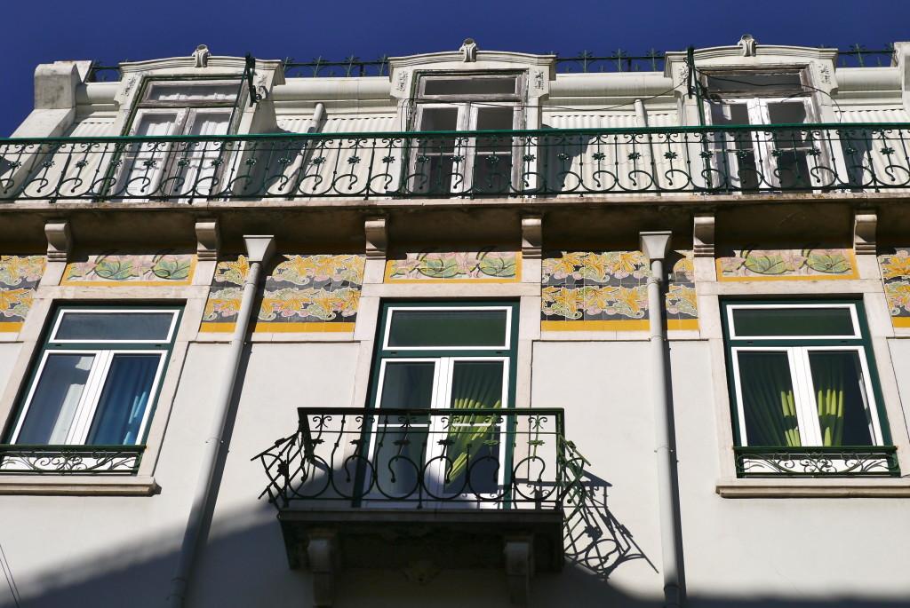 Lisbon art nouveau tiles