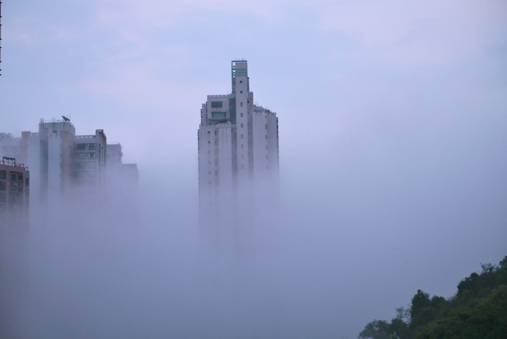 fog in hong kong