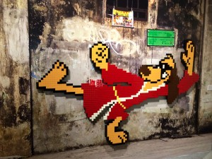 space invader wipe out exhibition