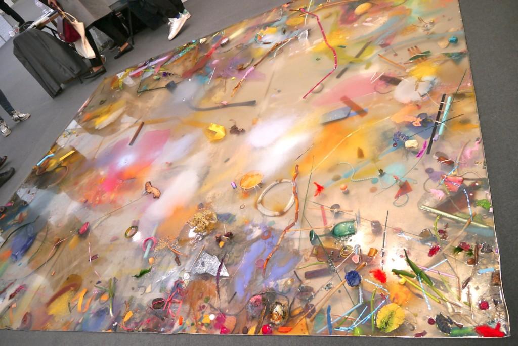 Samara Scott's floor installation at The Sunday Painter