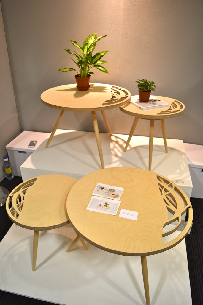 Rebecca Chan's komorebi side tables