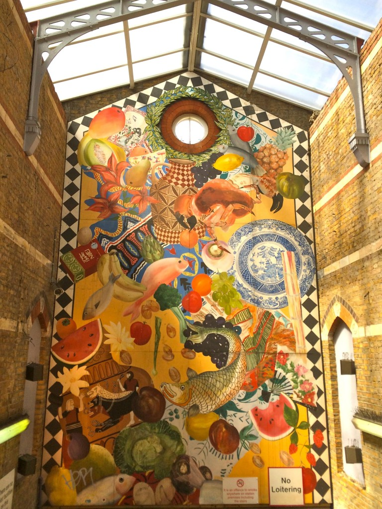 A mural inside the station created by Karen Smith and Angie Biltcliffe in 1986