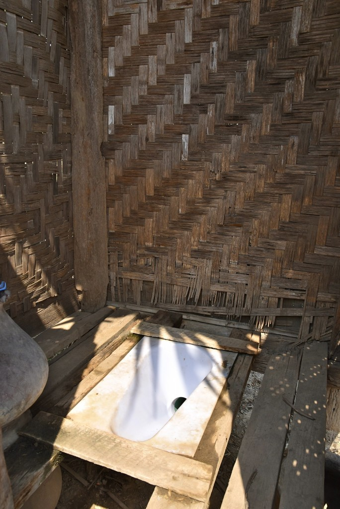 bamboo hut toilet Burma