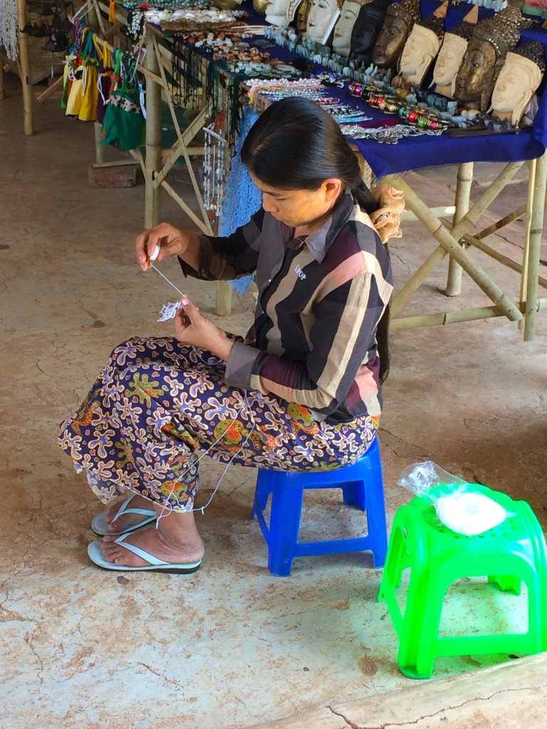 burmese lace weaving