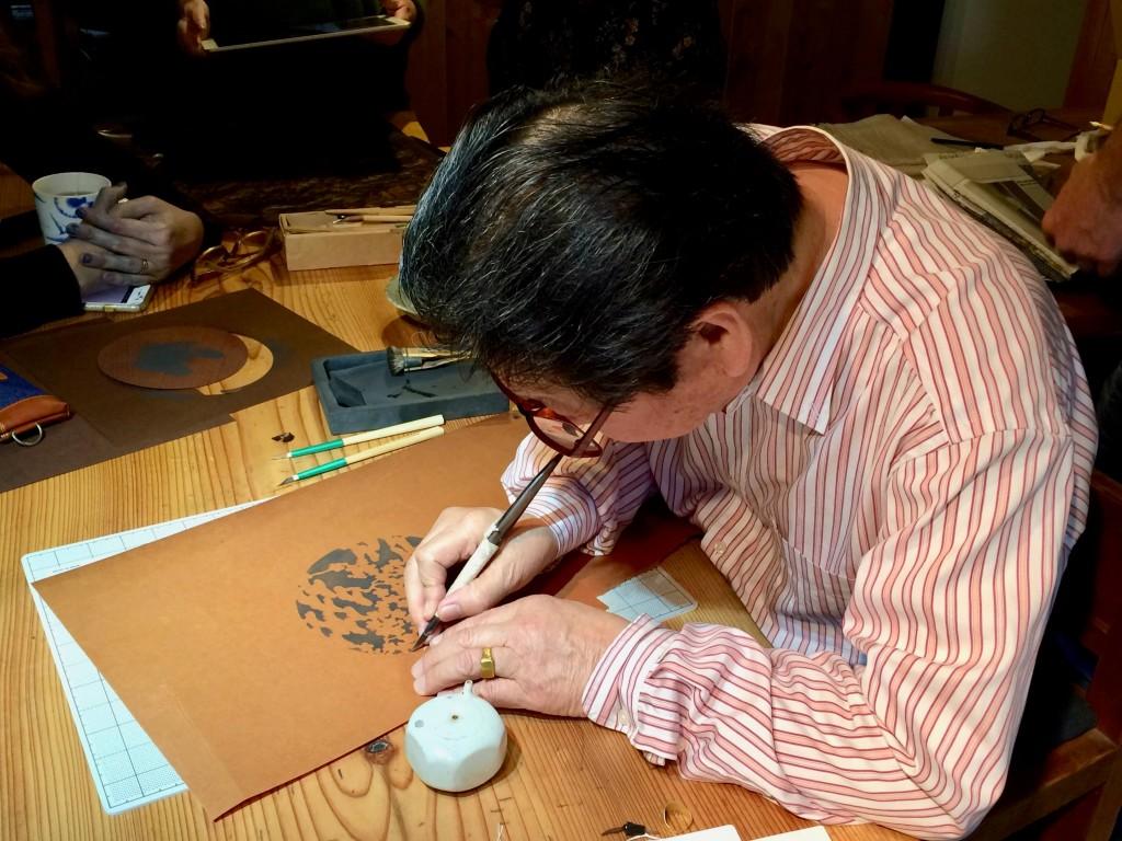 Ise-Katagami Artisan Isao Uchida