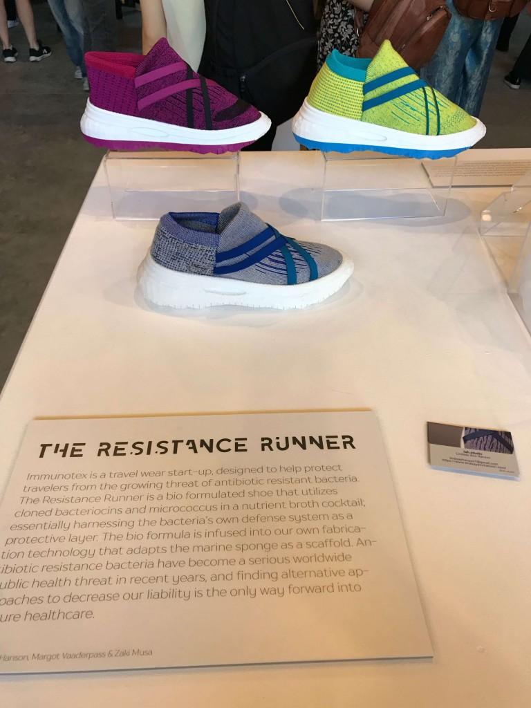 Lindsay Hanson, Margot Vaaerpass and Zaki Musa Resistance Runner