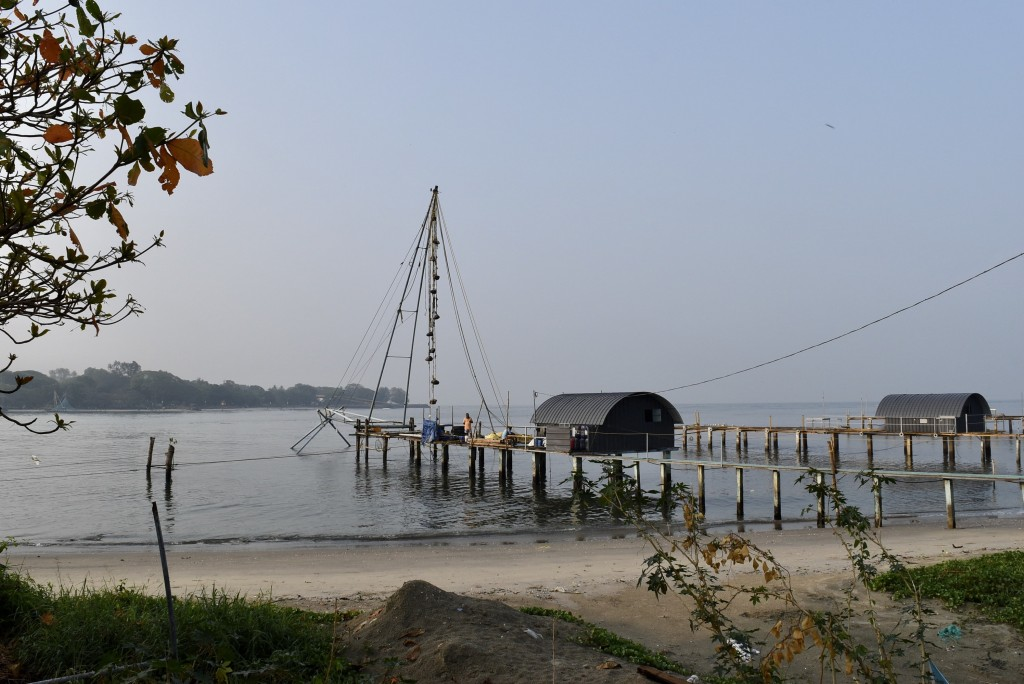 Vypin island chinese fishing nets